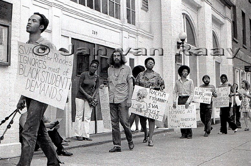 United Black Artists protest School of Visual Arts, New York., 1970.