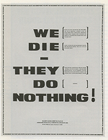 We Die - They Do Nothing! ACT UP Majority Action Committee graphics