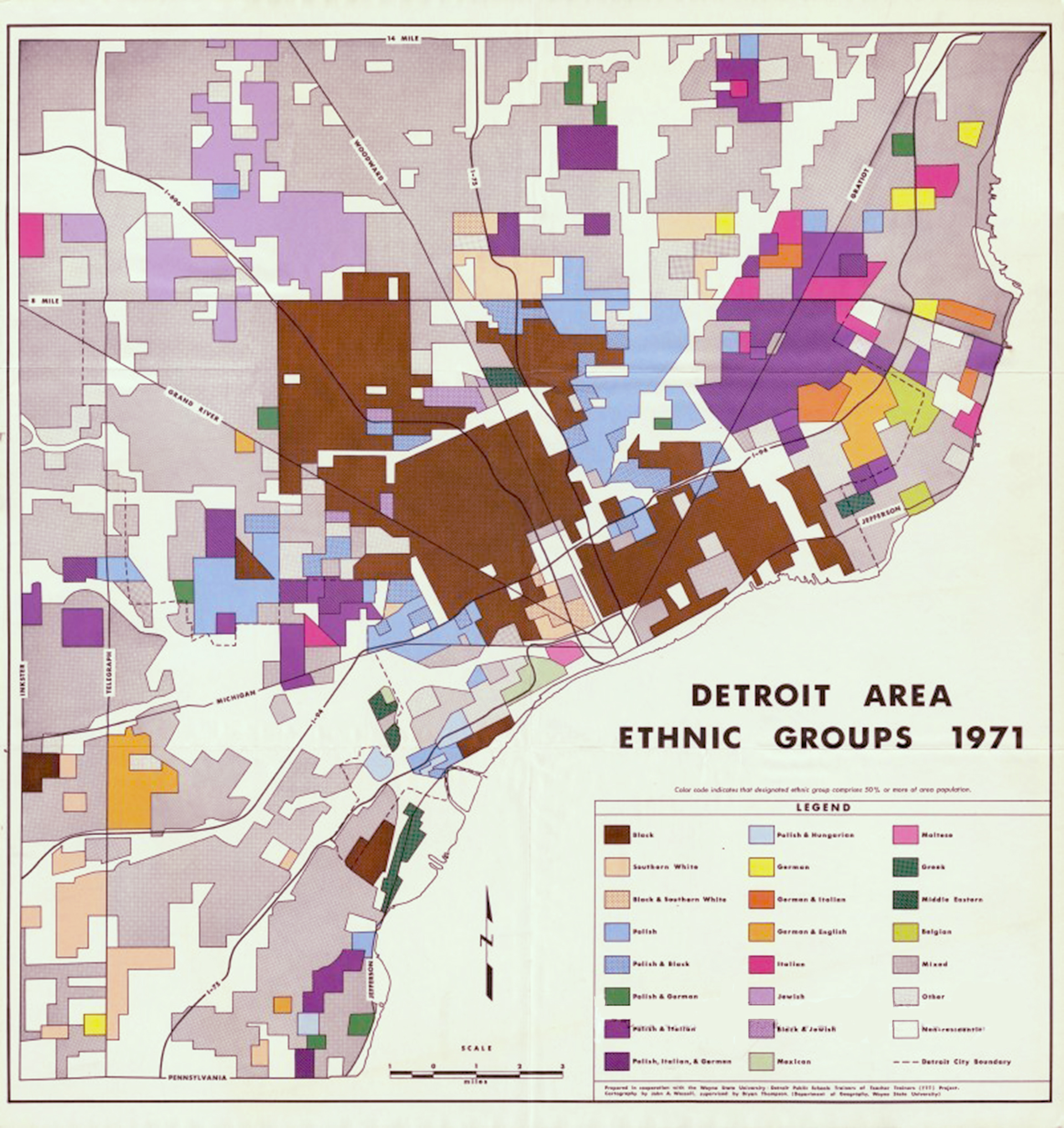Detroit Area Ethnic Groups 1971 - Wayne State University - Detroit Public Schools Trainers of Teacher Trainers (TTT) Project.