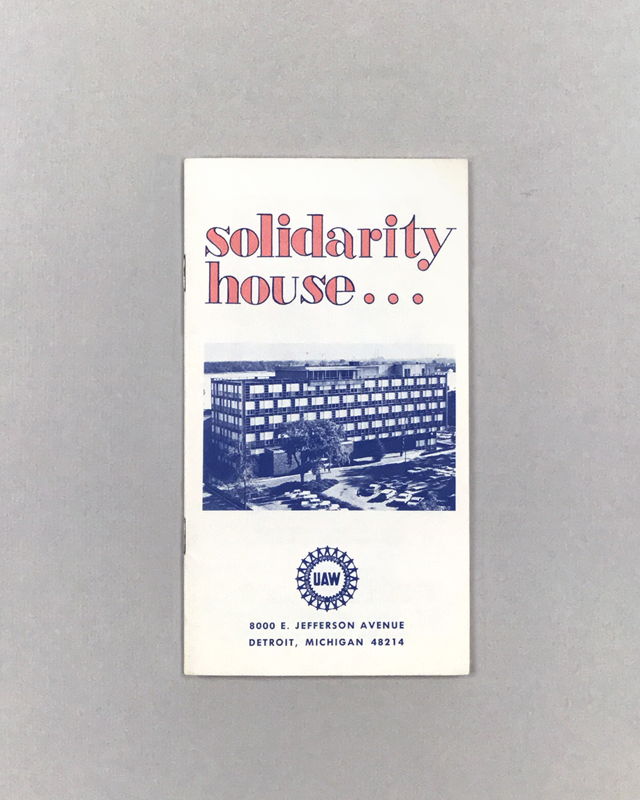 Solidarity House... UAW Education Dept. no. 342 (1963)