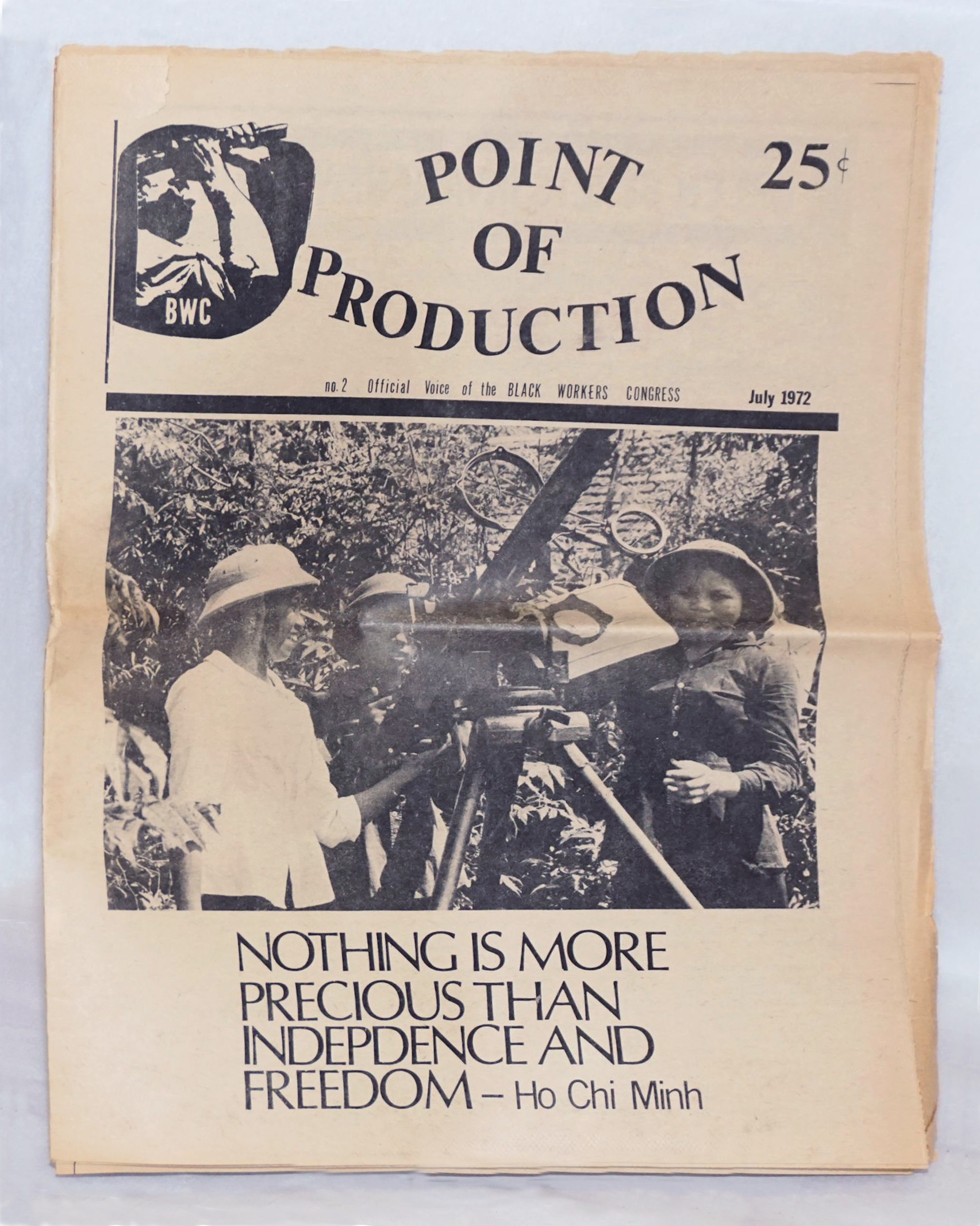 Point of Production No.2 July 1972 - Official Voice of the Black Workers Congress (newspaper cover)