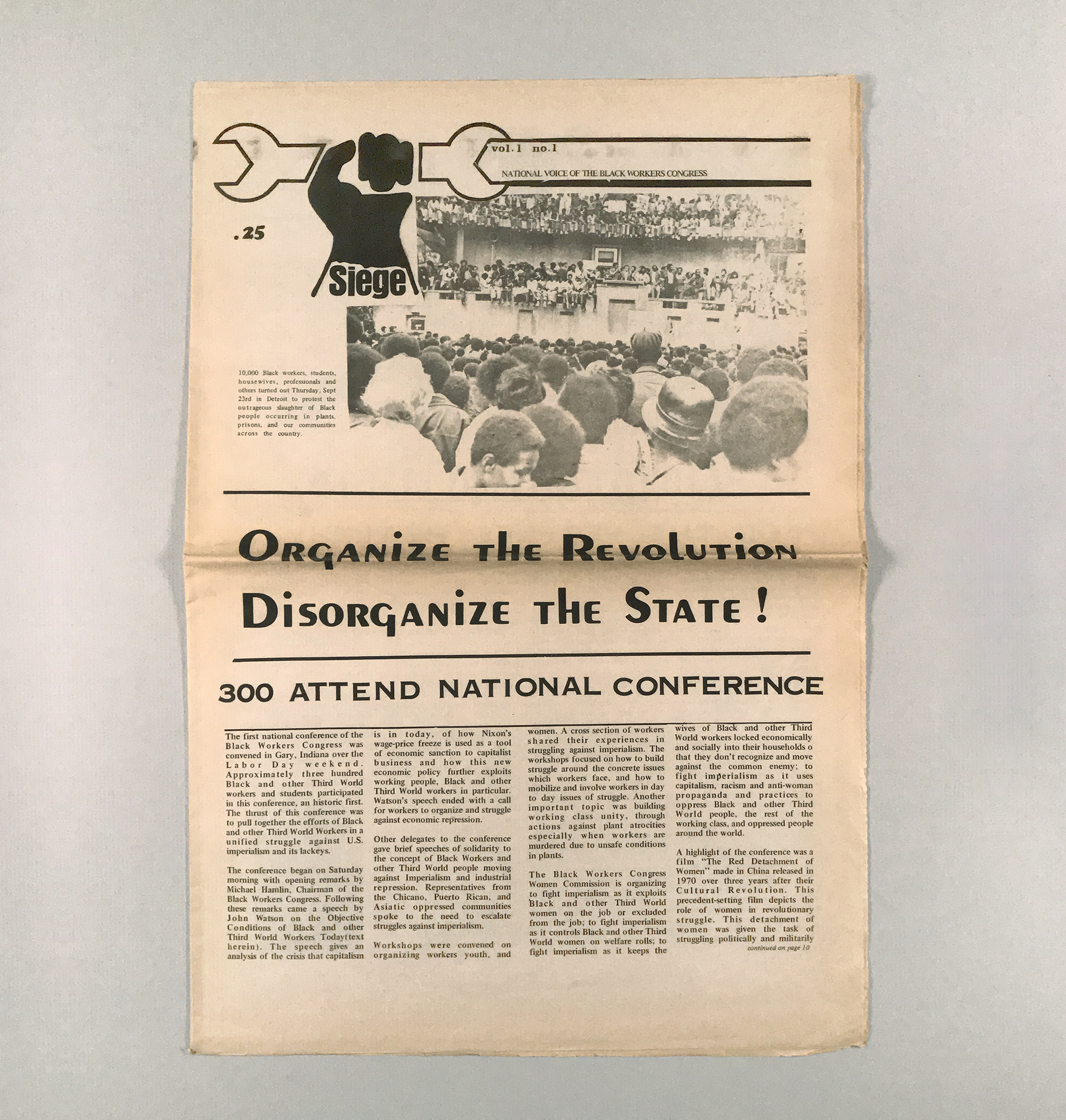 Siege: National Voice of the Black Workers Congress Vol. 1 No. 1 (1971)