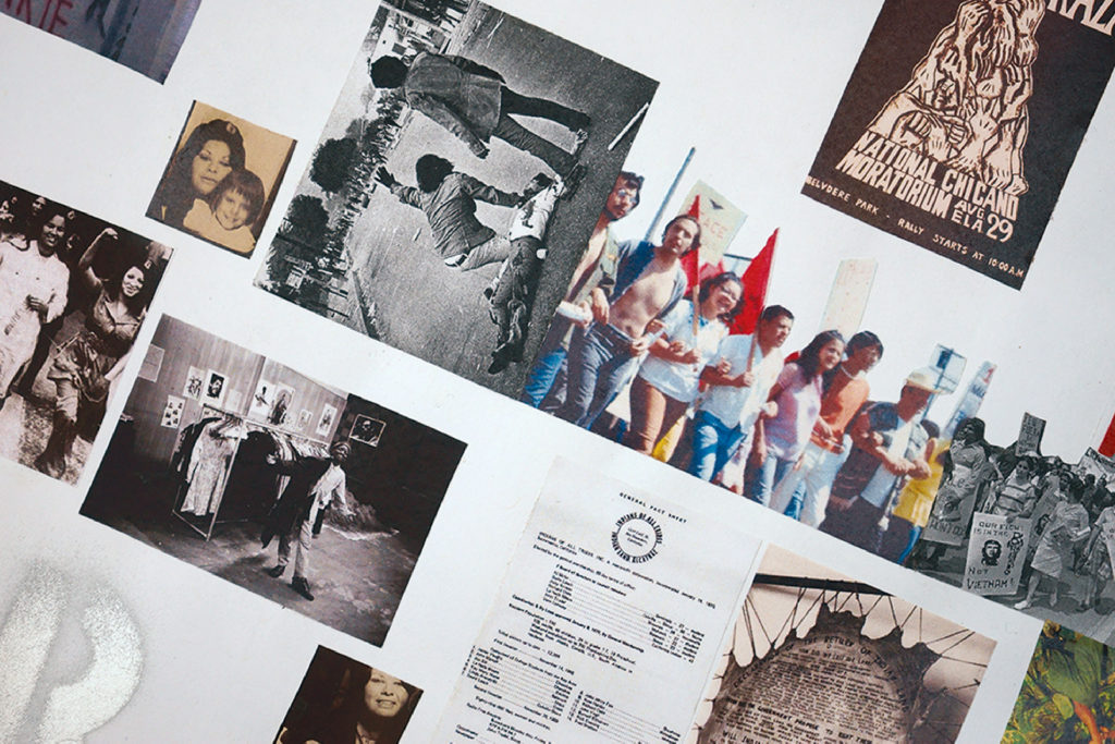 Close up for the art work used for Documents of Resistance: Our Time, POC timelines exhibition at Loisaida Center, NYC, 2018